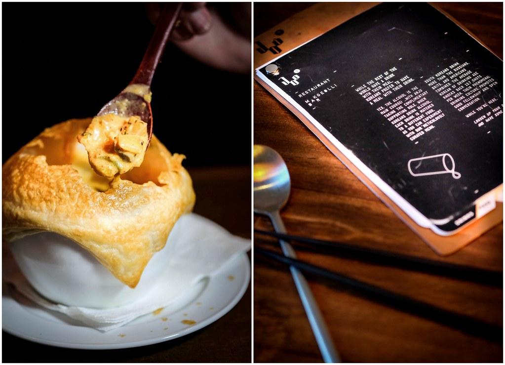 JOO Bar: Kimchi chicken potpie & Menu