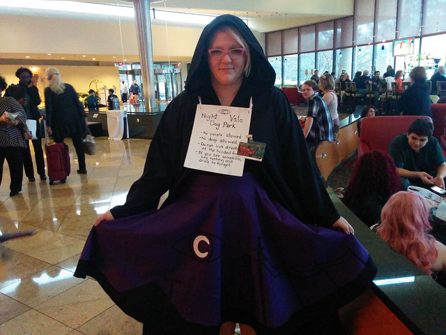 Night Vale dog park cosplayer, Midsouthcon, Memphis, Tenneessee