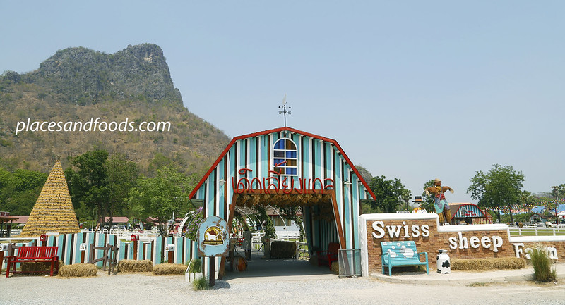 cha am swiss farm blue entrance overview