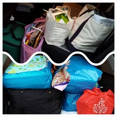 The car is packed and ready to go! Think I have enough stuff to last until Sunday? #retreat2015 #quiltretreat