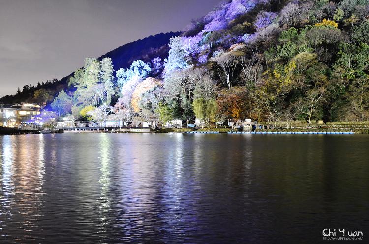 [日本。嵐山]*冬季限定*嵐山花燈路,渡月橋。幻化森色