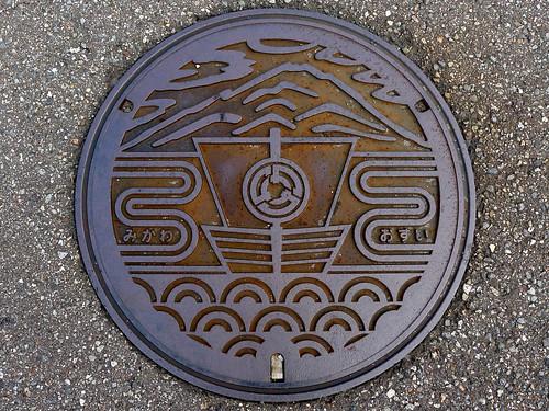 Mikawa Ishikawa, manhole cover (石川県美川町のマンホール)