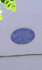 Photo of Bernard Montgomery blue plaque