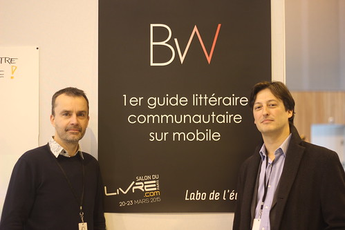 François Rochet et Hubert Bannel (Book Weather) - Slon du Livre de Paris 2015