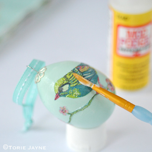 Decoupage egg tutorial 3