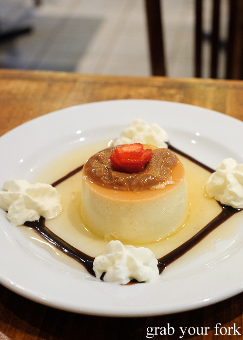 Creme caramel flan at La Cocina de la Abuela, Marrickville