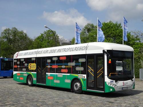 Der Testbus von Sileo im Münchner Busbetriebshof West