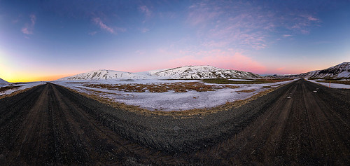 road panorama snow mountains clouds sunrise iceland country photomerge countryroad thingvellirnationalpark þingvellirnationalpark libralato canon1635 icelandicroad canoneos6d lucalibralato icelandiccountry