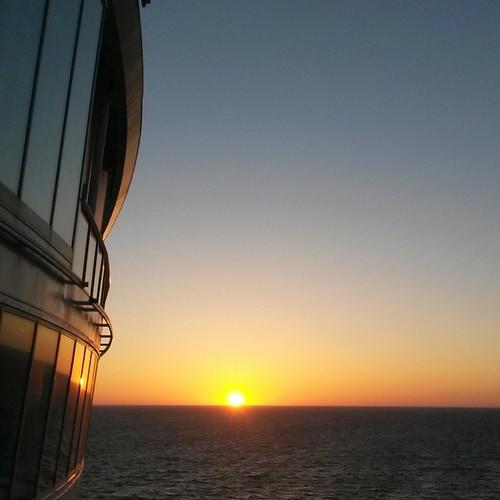 auringonlasku, Allure of the Seas, Atlantti