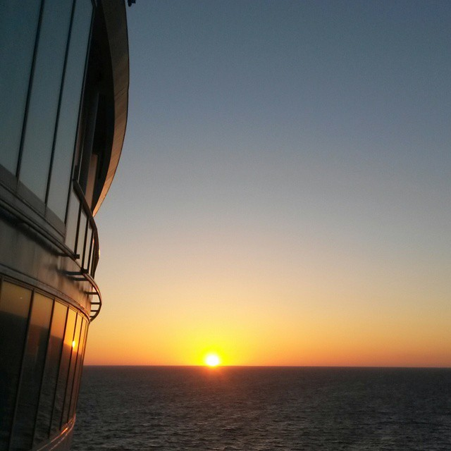 Auringonlasku, Allure of the Seas, Royal Caribbean