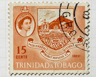 Trinidad and Tobago Crest 15 cents Elizabeth II