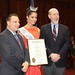 Rep. Sampson & Senator Markley meet Miss Connecticut's Outstanding Teen 2014, Cynthia Dias, of Wolcott.