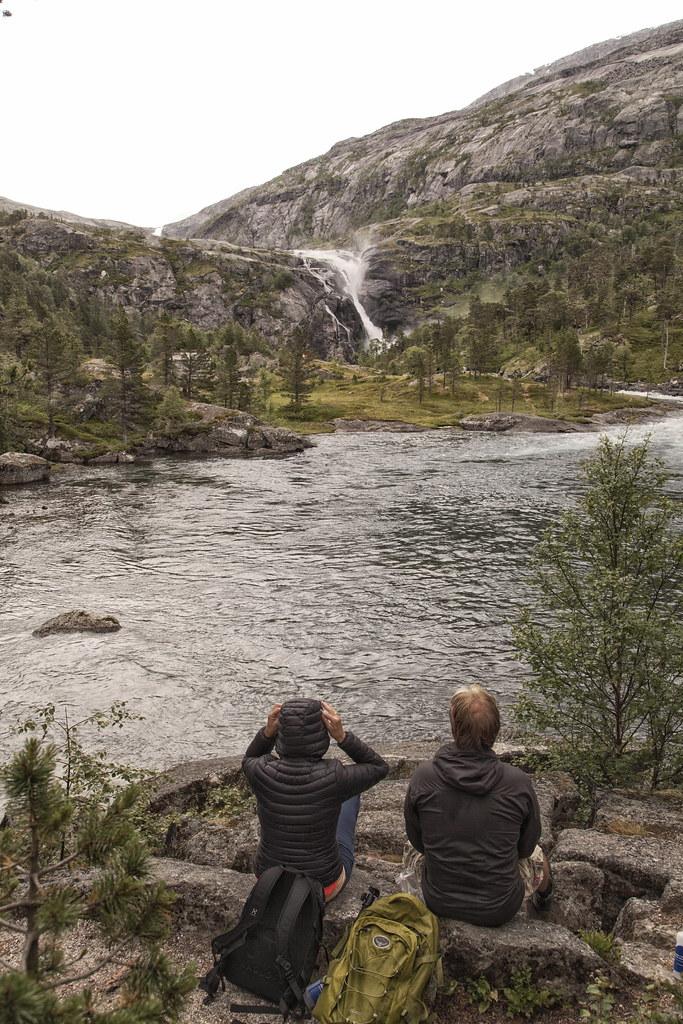 Hike Kinsarvik Husedalen, til alle fire fossar.  Nykkjesøyfossen ca 600 moh. Kinsarvik, Hardanger