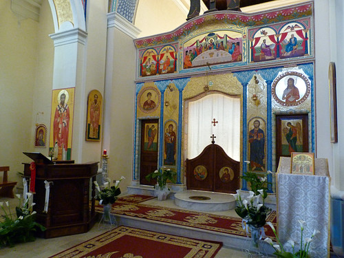 San Demetrio Corone - orthodox church of San Demetrio, iconostasis