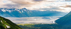 Panoramic View from Seven Glaciers, Alyeska Resort