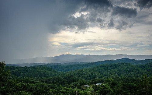 cherrylog ga georgia blueridge mountains thunder shower storm rain appalachians