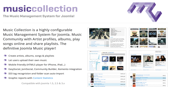 Music Collection PRO v3.0.5 – Extension For Joomla 3.x