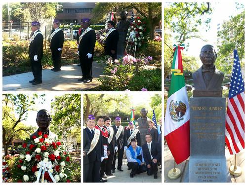 Conmemoración 209 Aniversario del Natalicio de Benito Juárez, Houston
