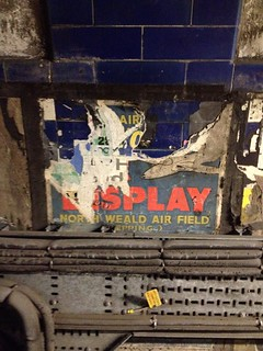North Weald Air Display poster in disused passageways at a tube station, London
