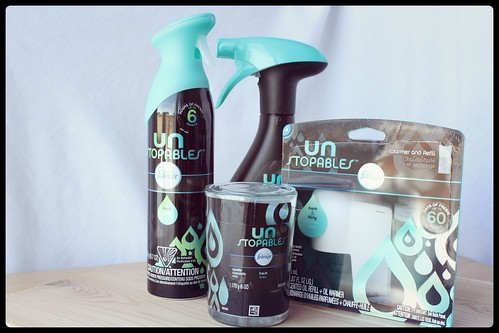 Produits Unstopables febreze chandelle vert