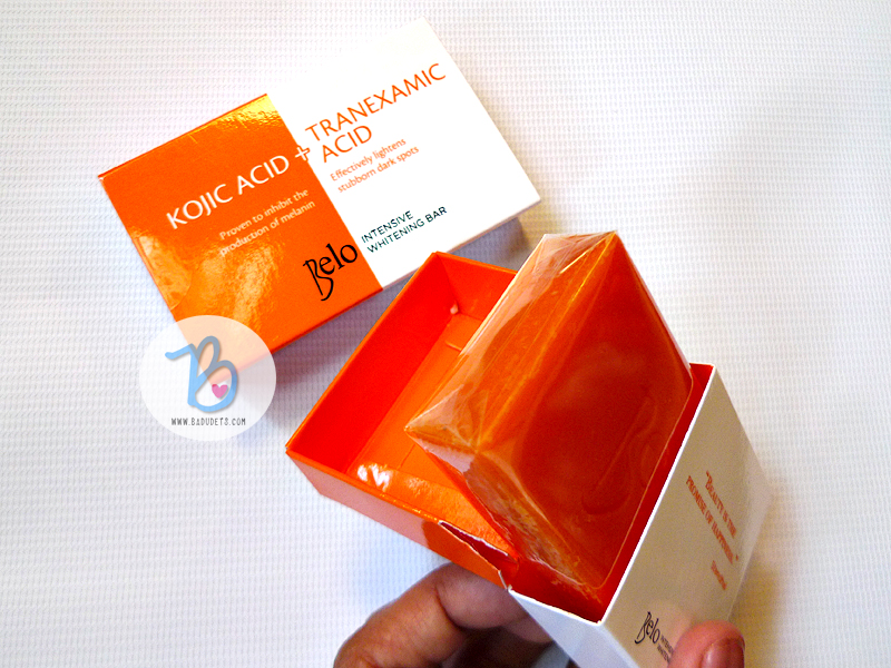 belo intensive whitening soap review