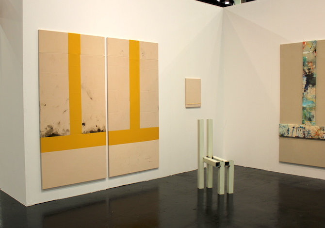 Samuel Francois at booth jeanrochdard, Paris, Brussels and Berthold Pott, Cologne