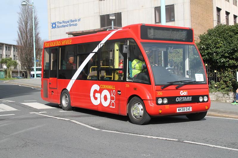 Plymouth Citybus 206 WK58EAE
