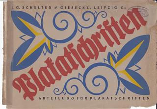 Letterpress is in its basic form sharing of information - wood type specimen J.G. Schelter & Giesecke