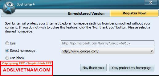 Đặt Google làm trang chủ Internet Explorer