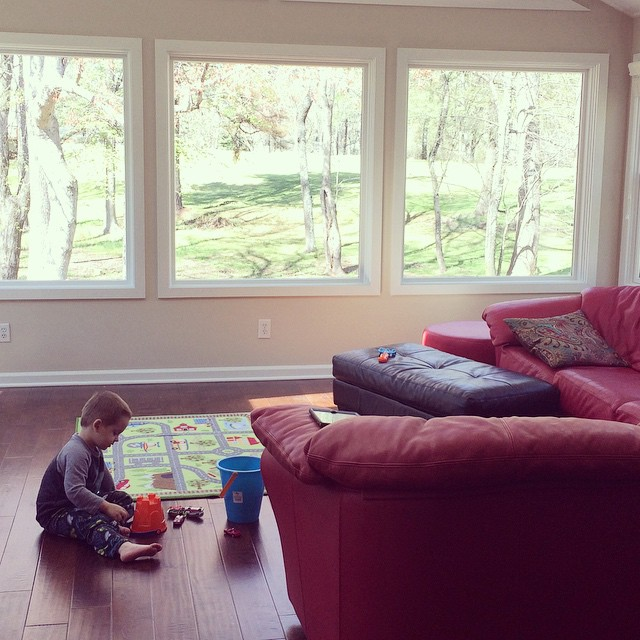 William enjoyed playing in the sunroom/playroom this afternoon. It was a marvelously beautiful day! #atlanta #northgeorgia #cummingGA #weloveatl #iloveatl #kids #igersatl #boymom #myboys #toddler #toddlerlife