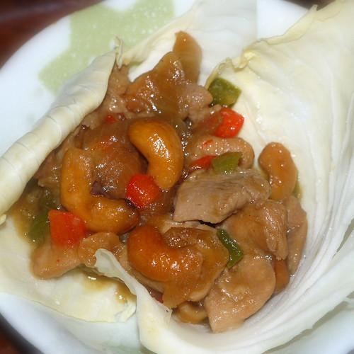 セブンP鶏肉のカシューナッツ炒め