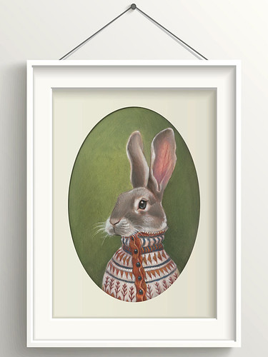 """Homer"" - Rabbit in Fair Isle Sweater"