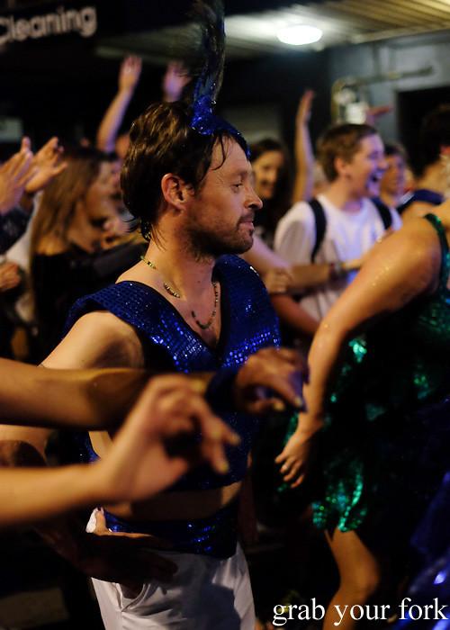 Batucada parade samba dancer at the Cuba Dupa Festival 2015, Wellington