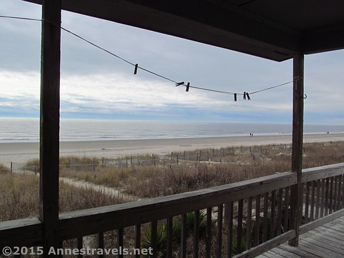 The view from the back porch of Starboard, 899 Ocean Blvd W, Holden Beach, North Carolina
