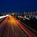 I-5 south and the San Diego city skyline by slworking2