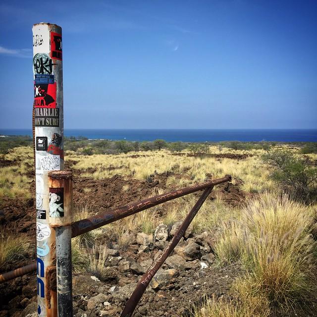 Hiking to a no-public-access beach