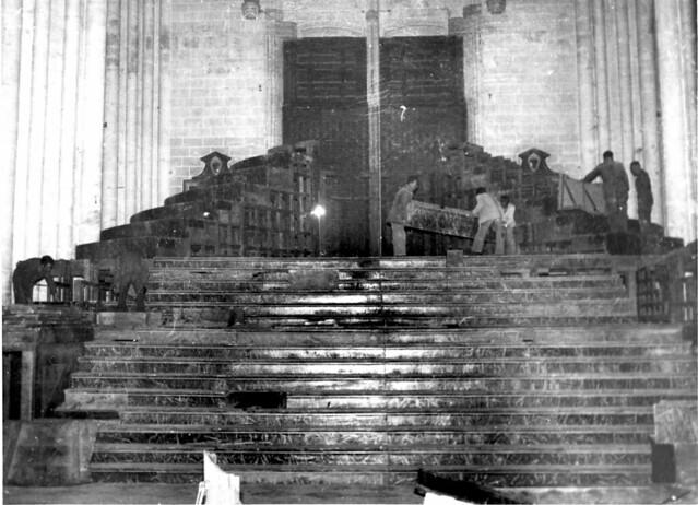 Monumento de semana Santa en Toledo obra de Ignacio Haan. Fotografía Rodríguez. Archivo Histótico Provincial, JCCM  22_cmb2_076