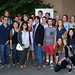 LMU School of Film & Television posted a photo:	Burns poses with the film students who attended his event. | Photo by Juan Tallo