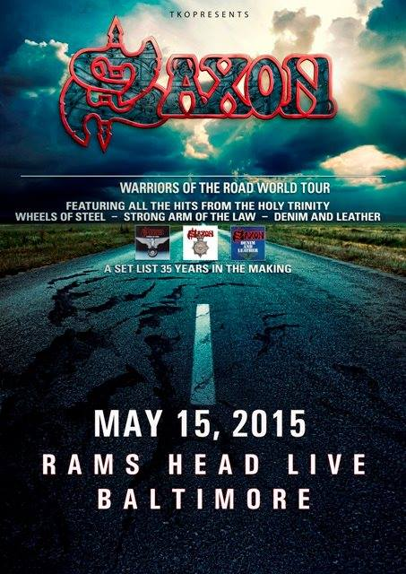 Saxon at Rams Head Live