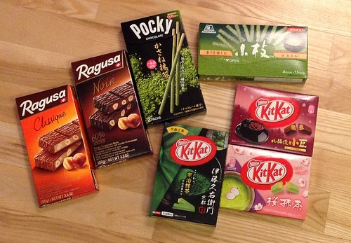 Swiss chocolate, matcha sweets & some Japanese KitKats
