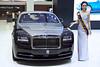Rolls-Royce Phantom with sexy presenter at the 36th Bangkok International Motor Show
