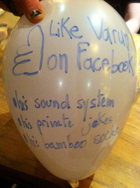 Varun's Birthday Balloon