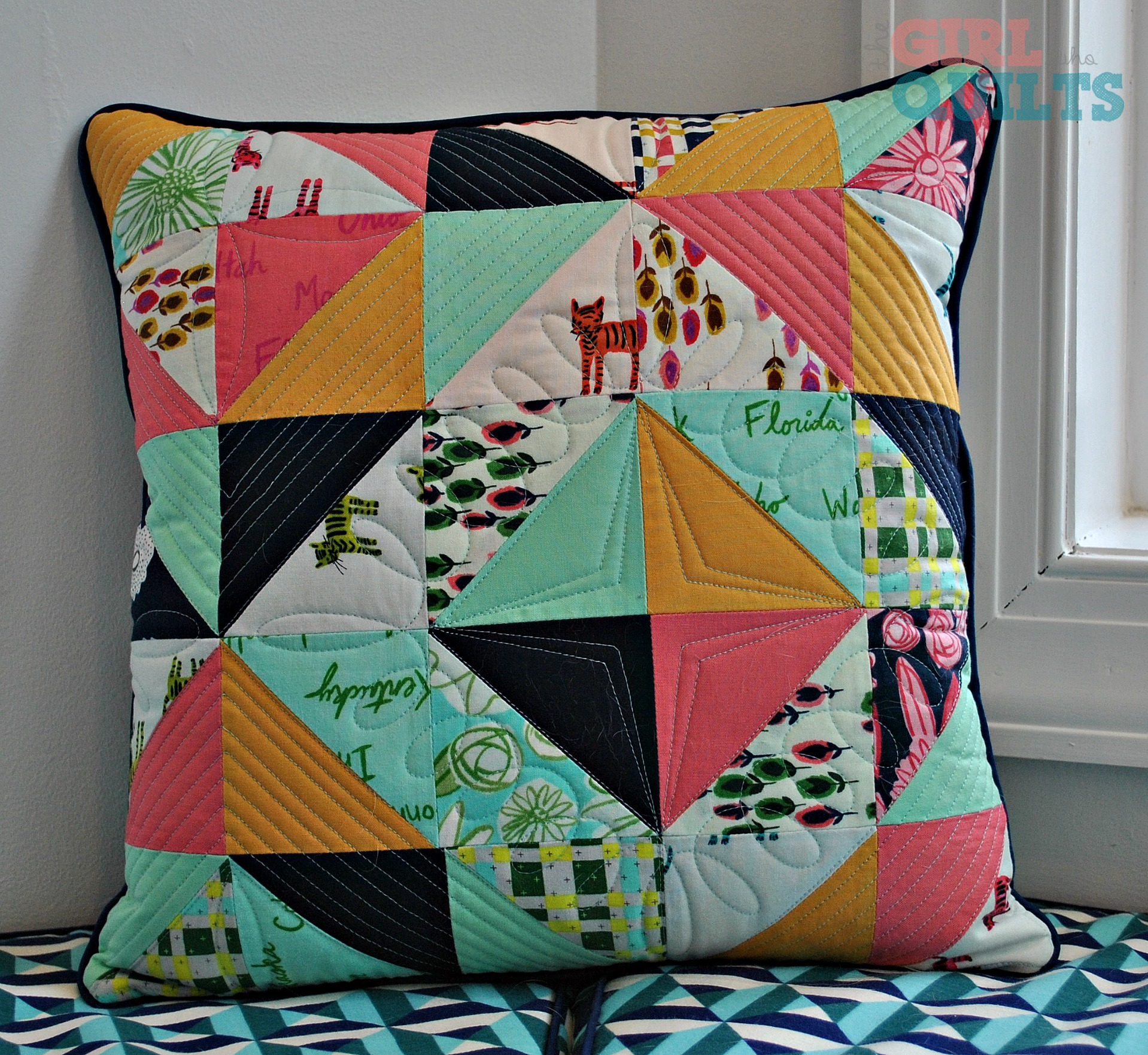 Roundabout Quilt and pillows