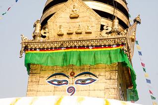 Image of Swayambhunath near Kathmandu. stupa drapeaux mg4775
