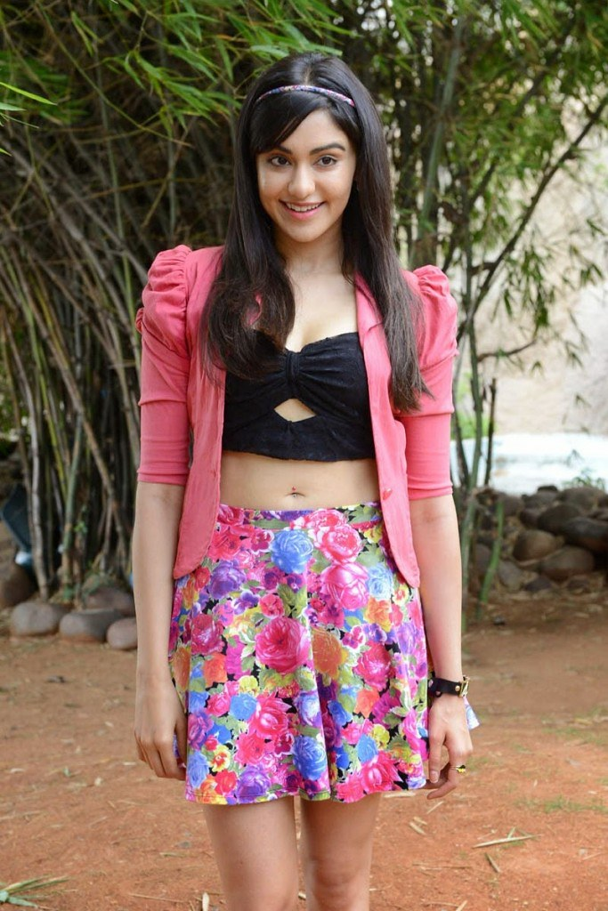kerala girl adah sharma photos in floral short skirts n