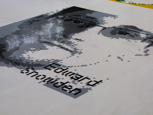 Edward Snowden portrait in Legos, Ai Weiwei exhibit, Alcatraz