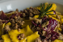 Tortelli radicchio and sausage