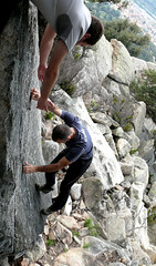 adventure(1.0), boulder(1.0), individual sports(1.0), sports(1.0), recreation(1.0), free solo climbing(1.0), outdoor recreation(1.0), rock climbing(1.0), sport climbing(1.0), extreme sport(1.0), climbing(1.0), rock(1.0), bouldering(1.0),