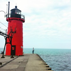 Had fun with a friend coming back from Holland, MI. #roadtrip #lighthouse #openseas