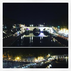#lungotevere #estate #notte #luci